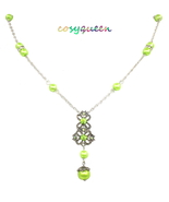 Women New Green Pearl Peridot Swarovski Element Crystal Butterfly Chain ... - $20.00