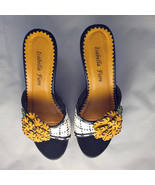 Isabella Fiore wome's shoes slides made in Italy size 6.5 6B - $59.99