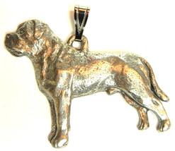 Mastiff Pendant Dog Harris Fine Pewter Made in USA jewelry - $10.99