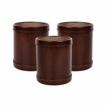 Genuine Leather Pens Pencils Holder Square Cup Luxury 100% Handcrafted O... - $65.00