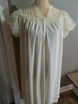 Vintage Shadowline size small, full Button Front Night Gown - $23.38