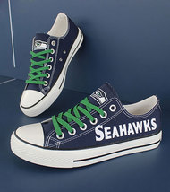 Seahawks shoes women seahawks sneakers converse style tennis shoe seattle fans - $56.00