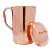 Pure Copper Hammered Water Jug Copper Pitcher for Ayurveda Health Benefi... - $30.84