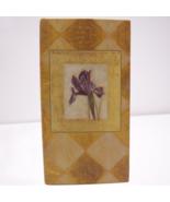 Purple Iris Address Book Christmas Card List Purse Size Shelly Hely  C R... - $12.08