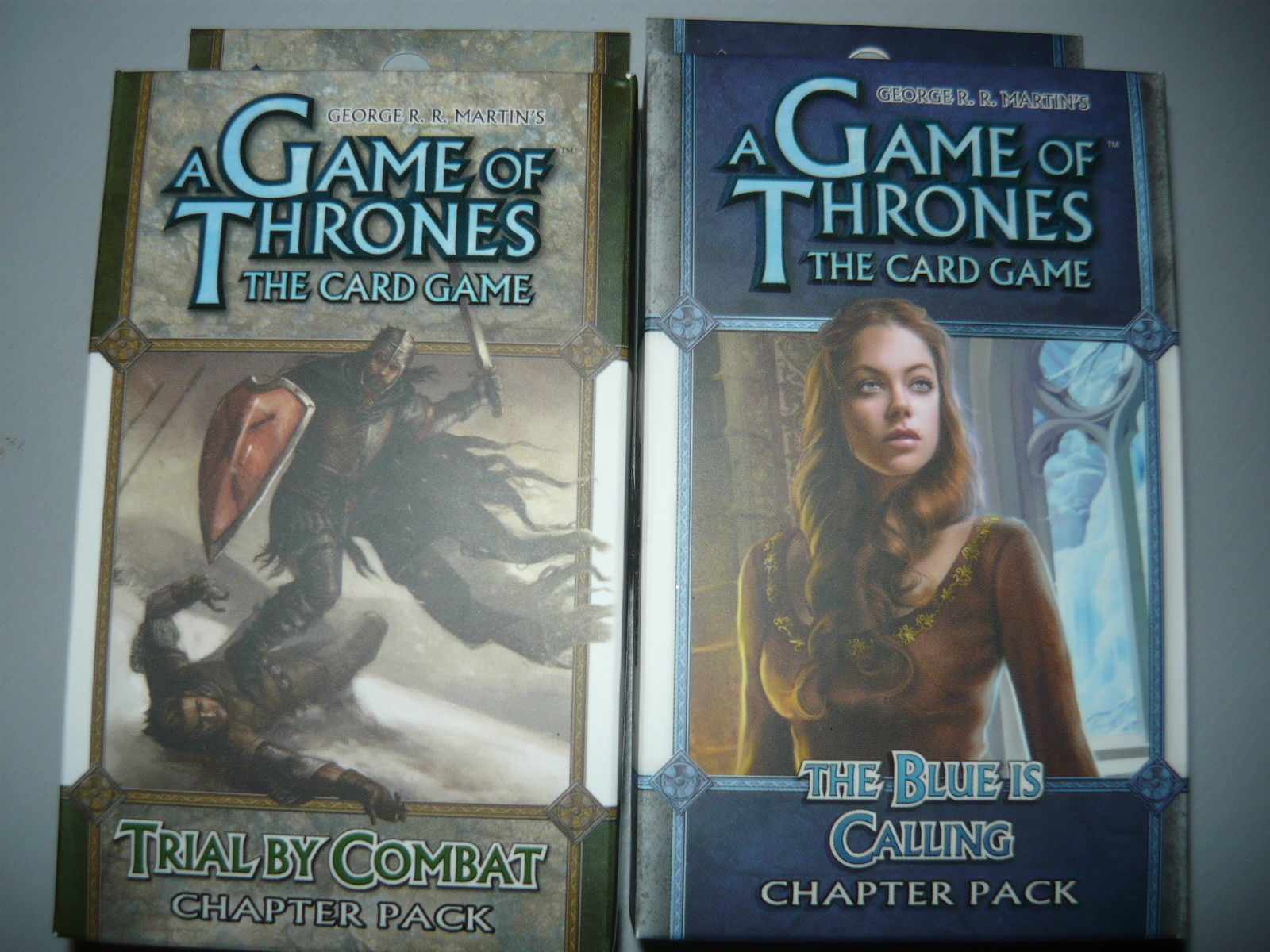 A Game of Thrones chapter pack lot of 2 trial by combat the blue is calling