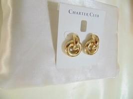 "Charter Club 1"" Gold-Tone Knot Drop Earrings H867 $32 - $11.51"