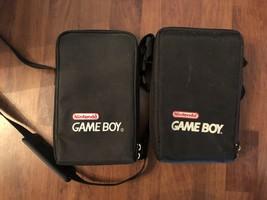 Lot of 2 Nintendo Gameboy Black Carrying Case with Shoulder Strap Vintag... - $15.88