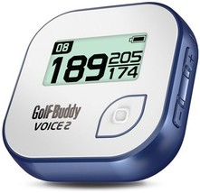 GolfBuddy Voice 2 Golf GPS/Rangefinder, White/Blue - $185.69