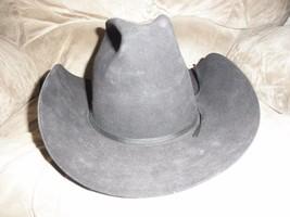 Resistol 3X XXX Beaver Cowboy Hat Black Sz 6 7/8 Self Conforming - $64.35