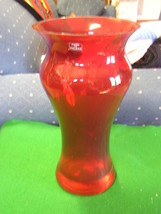 Beautiful Ruby Red Crystal ART VASE Made in Pol... - $15.84