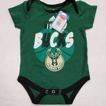 NWT Milwaukee Bucks Toddler Infant Creeper One Piece Shirt 3/6 Month New - $12.86