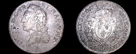 1771-L French Ecu World Silver Coin - France - Bayonne - Louis XV - $499.99