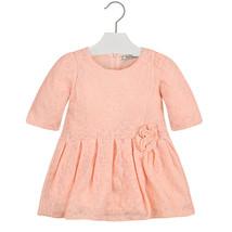 Mayoral Little Girls Soft Fuzzy Lace Drop Waist Dress
