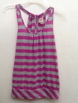 Mossimo supply co. Gray Purple Striped Tank Top size S Small - $9.95