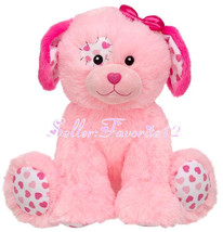 Precious Pink Patchwork Hearts Puppy Dog Build a Bear Stuffed Plush Toy ... - $116.99