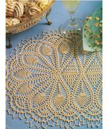 Challenging Sponteneity Octomat Bouquet Doily Cameo Table Topper Crochet... - $9.99