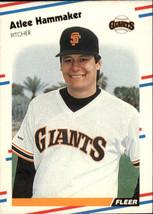 1988 Fleer #83 Atlee Hammaker NM-MT Giants - $0.75