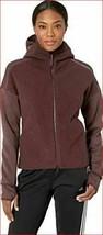 new Adidas women TRACK jacket hoodie top CW5740 burgundy S MSRP - $63.91