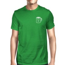 Coffee For Life Pocket Mans Kelly Green Tee Cute Typographic Tee - $14.99+
