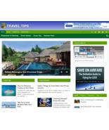 Travel Tips v.2 PLR Niche Blog Wordpress Ready Made Website - Make Money... - $5.99