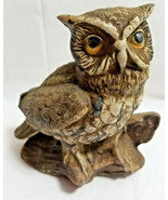 HOMCO Wise Owl Bird Art Pottery Figurine Statue Brown - $24.99