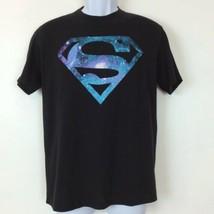 Superman DC Comics Graphic T-Shirt Galaxy Purple Blue Logo Womens Size Medium - $12.16