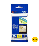 Brother TZe-PR234 12mm Glitter Tape Cassettes(Pack of 10)-Gold on Premiu... - $185.99