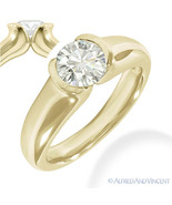 Round Cut Forever Brilliant Moissanite 14k Yellow Gold Solitaire Engagem... - €611,93 EUR+