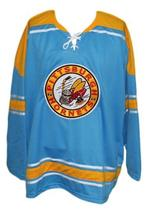 Custom Name # Pittsburgh Hornets Retro Hockey Jersey New Blue Remy #4 Any Size image 1