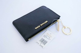 MICHAEL KORS JET SET TRAVEL COINPOUCH ID HOLDER LEATHER WALLET BLACK - $44.43