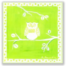 The Kids Room by Stupell White Owl on Green Square Wall Plaque - $34.27