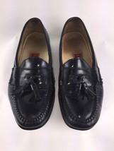 Cole Haan City Loafers 9.5 Men Black Tassel Loafer Slip On Leather Moc Toe - $25.72