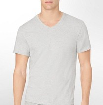 CALVIN KLEIN MENS 100% COTTON T-SHIRT UNDERSHIRT GRAY V NECK Classic Large - $11.95