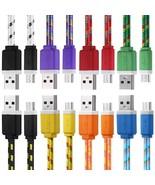 3M Braided Fabric Flat Colorful Micro USB Synchronization Data Charg - $2.80