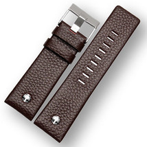 Genuine Leather Brown Strap Band for Diesel Watches screw 20,22,24,26,28... - $23.00