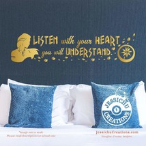 Listen with your heart you will understand - Pocahontas Disney Quote Vin... - $7.00+