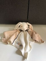 Mary Meyer google Bunny Rabbit Baby Lovey Security Blanket Plush ivory satin tan - $39.55