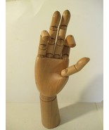 """12 1/2"""" Wooden Right  Hand Model Jointed Articulated Wood Artwork Sculpture - $15.83"""