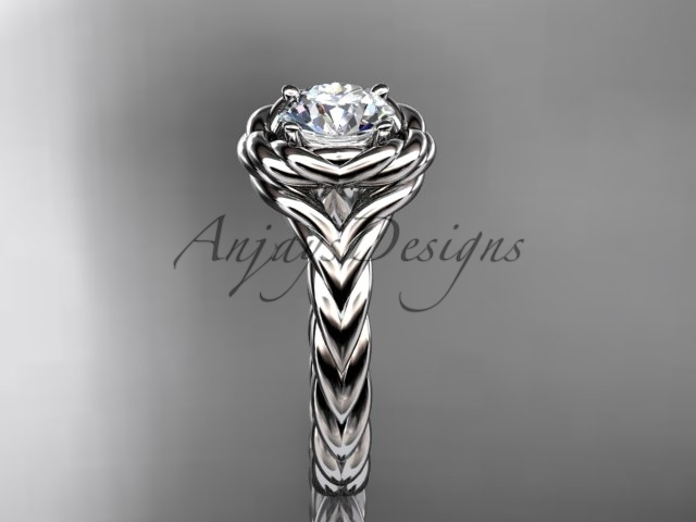 Rope engagement ring, Platinum  twisted rope engagement ring RP8201