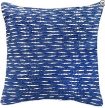 "Throw Pillow Toss Pillow Aruba Woven Throw Pillow, 20"" x 20"", Blue - $79.19"