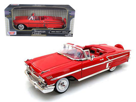 1958 Chevrolet Impala Red 1/18 Diecast Car Model by Motormax - $53.32