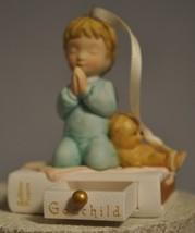 Hallmark - Godchild - Praying Boy, Teddy on Book - Working Drawer - Porc... - $8.31