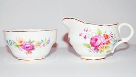 """Vintage Adderley Fine Bone China Creamer & Sugar Bowl Set """"Floral Patter... - $19.99"""