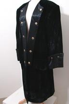 "Custom Tail Coat NBC STUDIO'S Worn Black Velvet & Satin 18th Century  ""M... - $269.99"