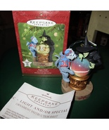 HALLMARK 2001 THE WIZARD OF OZ CHANGING LIGHTS AND SCENES ORNAMENT POPPY... - $29.95