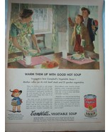 Campbell's Vegetable Soup Food Fights For Freedom WWII Advertising Print... - $8.99
