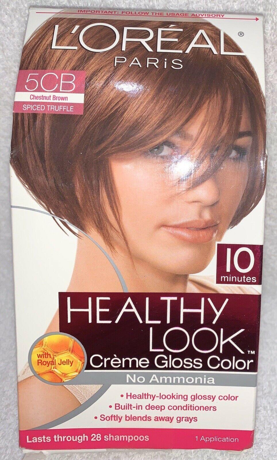L'Oreal Paris 5CB SPICED TRUFFLE Chestnut Brown Creme Gloss Color Hair Dye New - $26.72