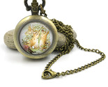 Peter Rabbit Pocket Watch Necklace, Beatrix Potter Jewellery, Peter Rabbit jewel