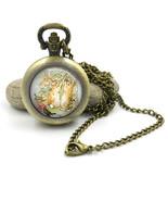 Peter Rabbit Pocket Watch Necklace, Beatrix Potter Jewellery, Peter Rabbit jewel - £10.58 GBP