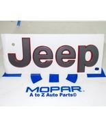 "NEW 2018 Jeep Wrangler JL Rubicon Gray/Red Outline ""JEEP"" Fender Namepla... - $38.95"